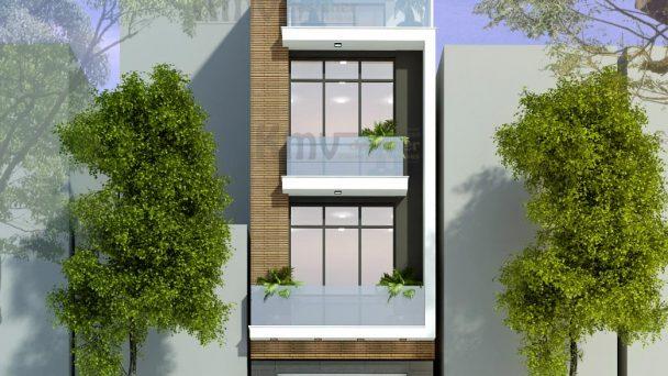 Thiết kế kiến trúc nhà phố hiện đại tại Hà Đông – anh Trường