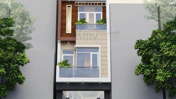 Thiết kế kiến trúc nhà phố kết hợp kinh doanh tại Xuân Phương