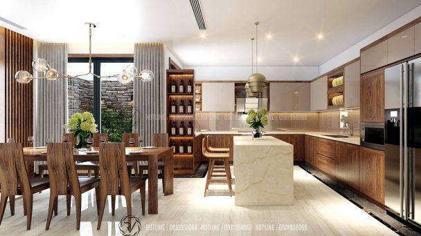 Thiết kế nội thất biệt thự liền kề 5 tầng đẹp.
