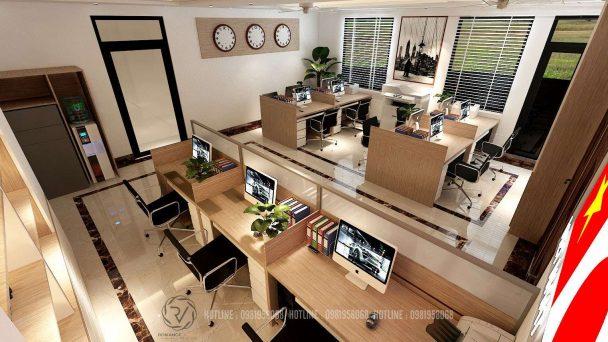Thiết kế văn phòng công ty việt nhật