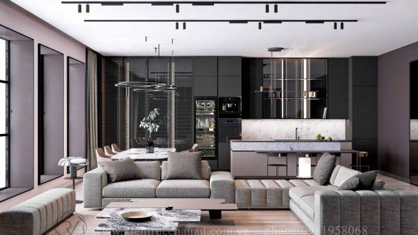 Thiết kế chung cư 75m2 đẹp hiện đại tại Vinhomes Gia Lâm
