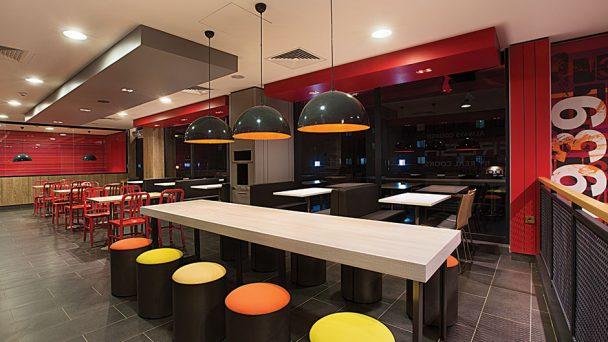 Kinh nghiệm vàng cần lưu ý trong thiết kế quán ăn nhanh