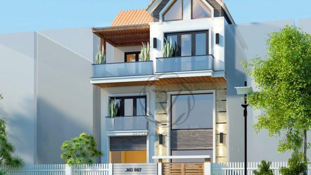 Thiết kế kiến trúc nhà phố đẹp hiện đại tại Hà Nội – chú Bạ