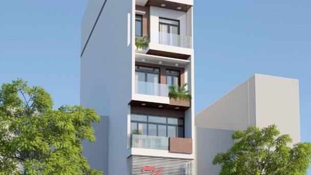 Mẫu thiết kế nhà phố mặt tiền 5m kết hợp kinh doanh