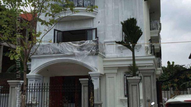 Thi công kiến trúc biệt thự tân cổ điển – KĐT Quang Minh