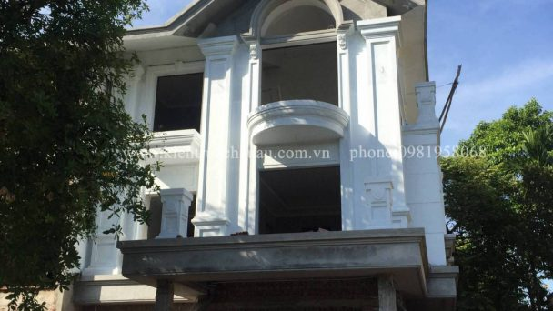 Thi công kiến trúc biệt thự tân cổ điển tại khu đô thị Quang Minh