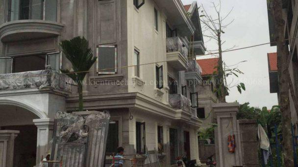 Thi công kiến trúc nội thất biệt thự Hà Nội nhà Chị Giang