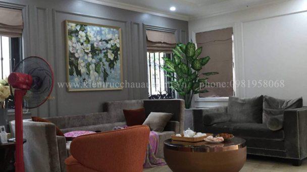 Thi công nội thất biệt thự tân cổ điển tại Hà Nội – Chị Giang