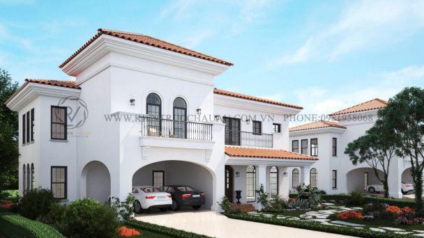 Thiết kế kiến trúc biệt thự phong cách Châu Âu tại Bắc Ninh