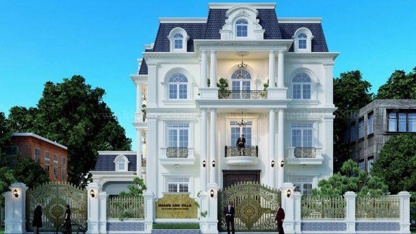 Thiết kế biệt thự Châu Âu tân cổ điển siêu sang tại Ninh Bình