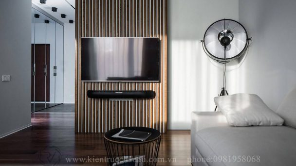 Thiết kế chung cư 1 phòng ngủ phong cách hiện đại đẹp cá tính