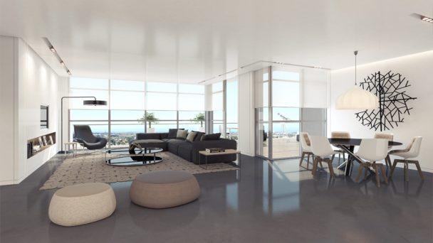 Thiết kế chung cư 85m2 thẩm mỹ và hợp lý với 3 phòng ngủ