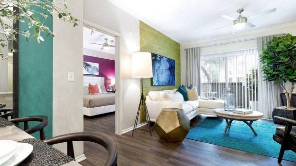 Nội thất chung cư color block bản hòa tấu của những sắc màu