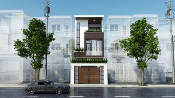 Thiết kế kiến trúc nhà phố – anh Hùng tại Cao Xá