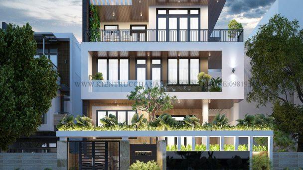 Thiết kế kiến trúc biệt thự hiện đại sang trọng – anh Tuấn