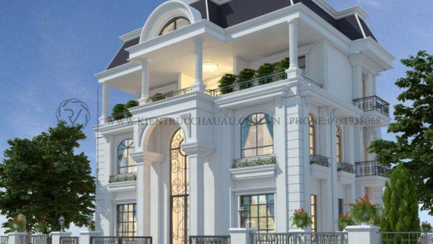 Bắt mắt với thiết kế kiến trúc biệt thự tân cổ điển – chú Hòa