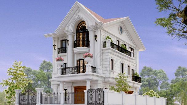 Thiết kế kiến trúc biệt thự nhà chú Lập – KĐT Quang Minh
