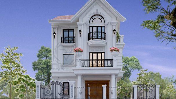 Thiết kế kiến trúc biệt thự đẹp tại Quang Minh – Chị Hương