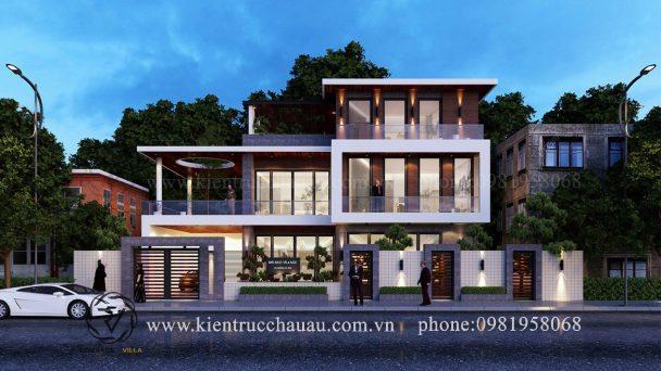 Thiết kế kiến trúc biệt thự hiện đại đẹp như mơ tại Hà Nội