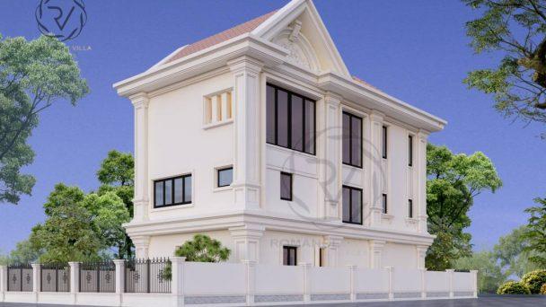 Thiết kế kiến trúc biệt thự Long Việt phong cách Tân Cổ điển