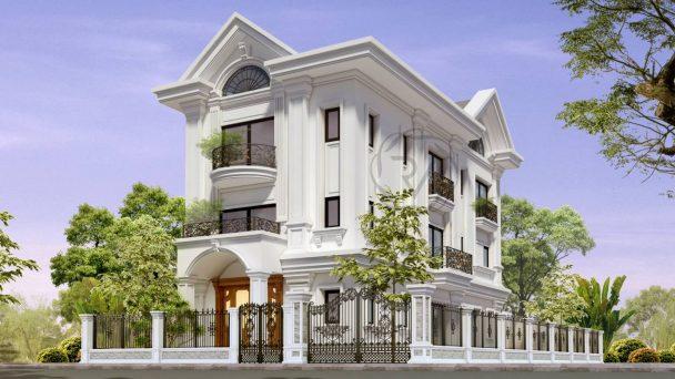 Thiết kế kiến trúc biệt thự tân cổ điển – anh Tiến Hà Nội