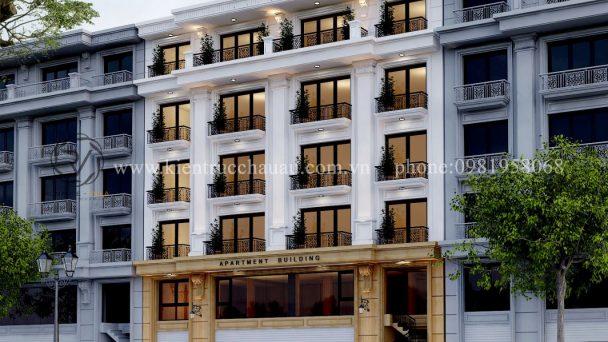 Thiết kế kiến trúc nhà cao tầng tân cổ điển tại Xuân Đỉnh