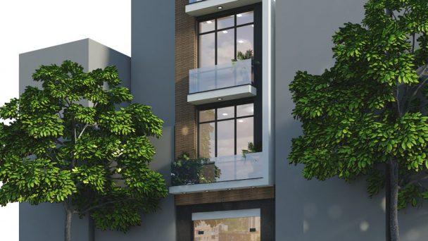 Thiết kế kiến trúc nhà phố hiện đại tại Đức Giang – anh Tưởng