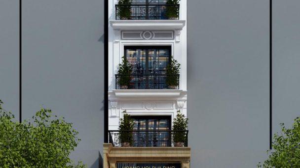 Thiết kế kiến trúc nhà cao tầng tân cổ điển tại Hoài Đức Hà Nội