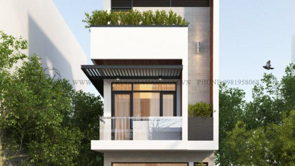 Thiết kế kiến trúc nhà phố đẹp hiện đại tại KĐT Nội Bài