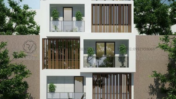 Thiết kế kiến trúc nhà phố đương đại tại Nam Định – Anh Thành