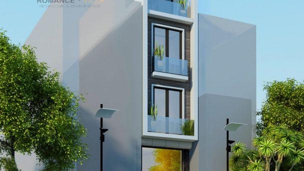 Thiết kế kiến trúc nhà phố hiện đại phố Đại Cồ Việt – anh Trung