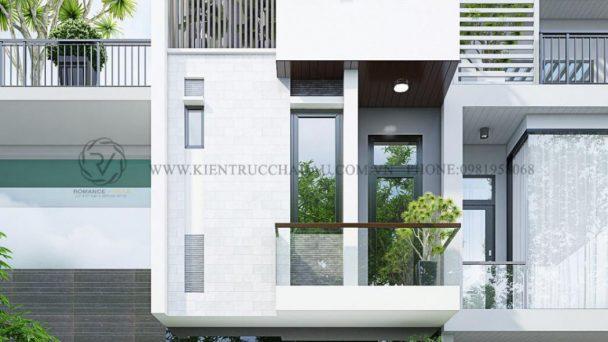 Sang trọng và ấn tượng với mẫu thiết kế kiến trúc nhà phố Nội Bài