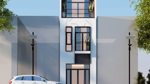 Thiết kế kiến trúc nhà phố phong cách hiện đại tại Hoài Đức