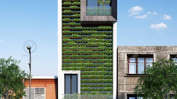 Thiết kế kiến trúc tòa nhà văn phòng tại Hải Dương