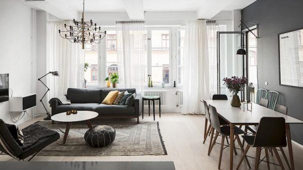 Thiết kế nội thất chung cư 2 phòng ngủ với diện tích chỉ 65m2