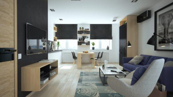 Thiết kế nội thất chung cư nhỏ dưới 50m2 đẹp tại Hà Nội