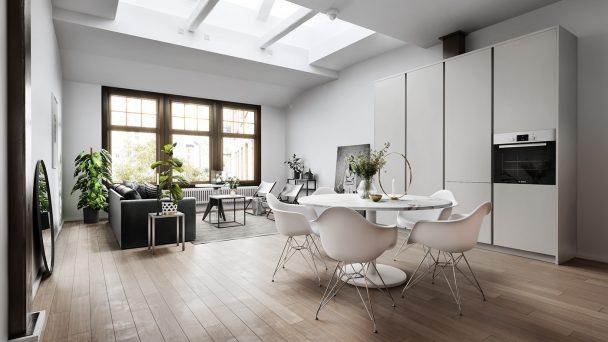 Thiết kế nội thất nhà phố hiện đại đẹp như mơ