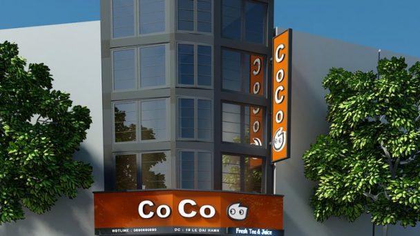 Độc đáo với mẫu thiết kế quán trà sữa CoCo tại Lê Đại Hành