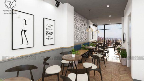 Thiết kế quán trà sữa diện tích nhỏ DingTea tại Giảng Võ