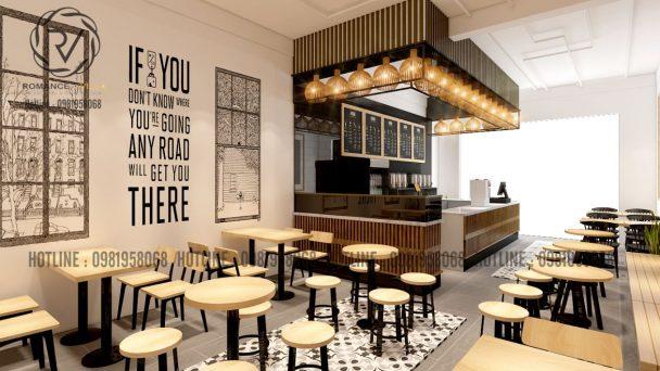 Độc đáo với vật liệu từ tự nhiên trong thiết kế quán trà sữa Hưng Yên