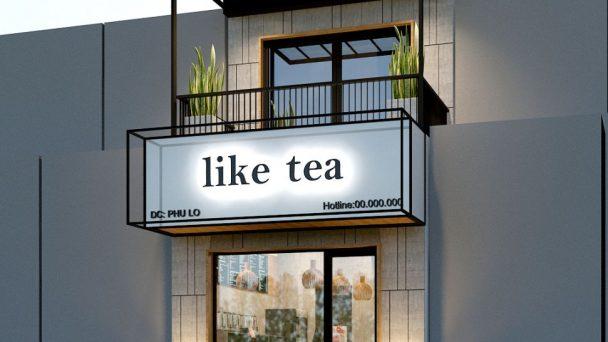 Thiết kế kiến trúc và quầy bar quán trà sữa Like Tea – Sóc Sơn