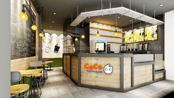 Thiết kế nội thất quán trà sữa hiện đại tại Phạm Ngọc Thạch