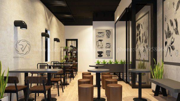 Thiết kế quán trà sữa nhỏ ấn tượng tại Quất Lâm – Nam Định