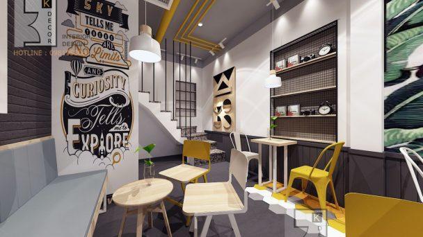 Thiết kế quán trà sữa phong cách hiện đại tại Trần Thái Tông
