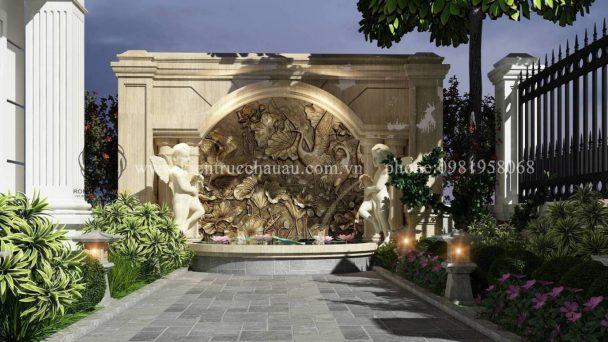 Thiết kế sân vườn biệt thự tân cổ điển KĐT Quang Minh – Anh Ánh