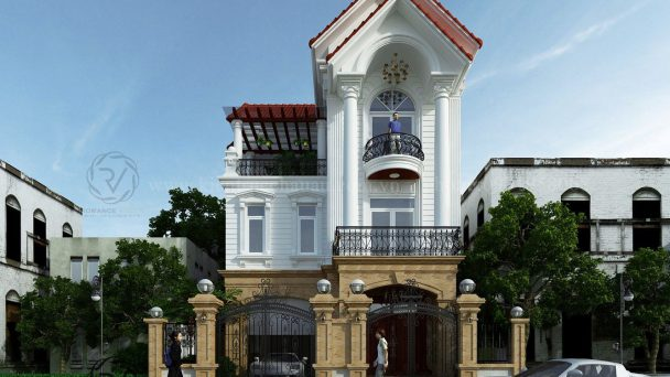 Tư vấn thiết kế biệt thự 3 tầng tân cổ điển tại Bắc Ninh