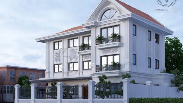 Tư vấn thiết kế biệt thự đẹp 3 tầng phong cách tân cổ điển